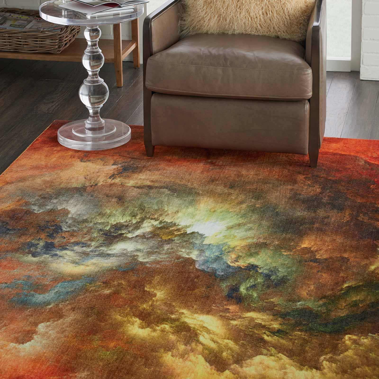 Nourison rug LREVE LER07 REDMT RED MULTICOLOR 8x10 099446494825 interior 2 C