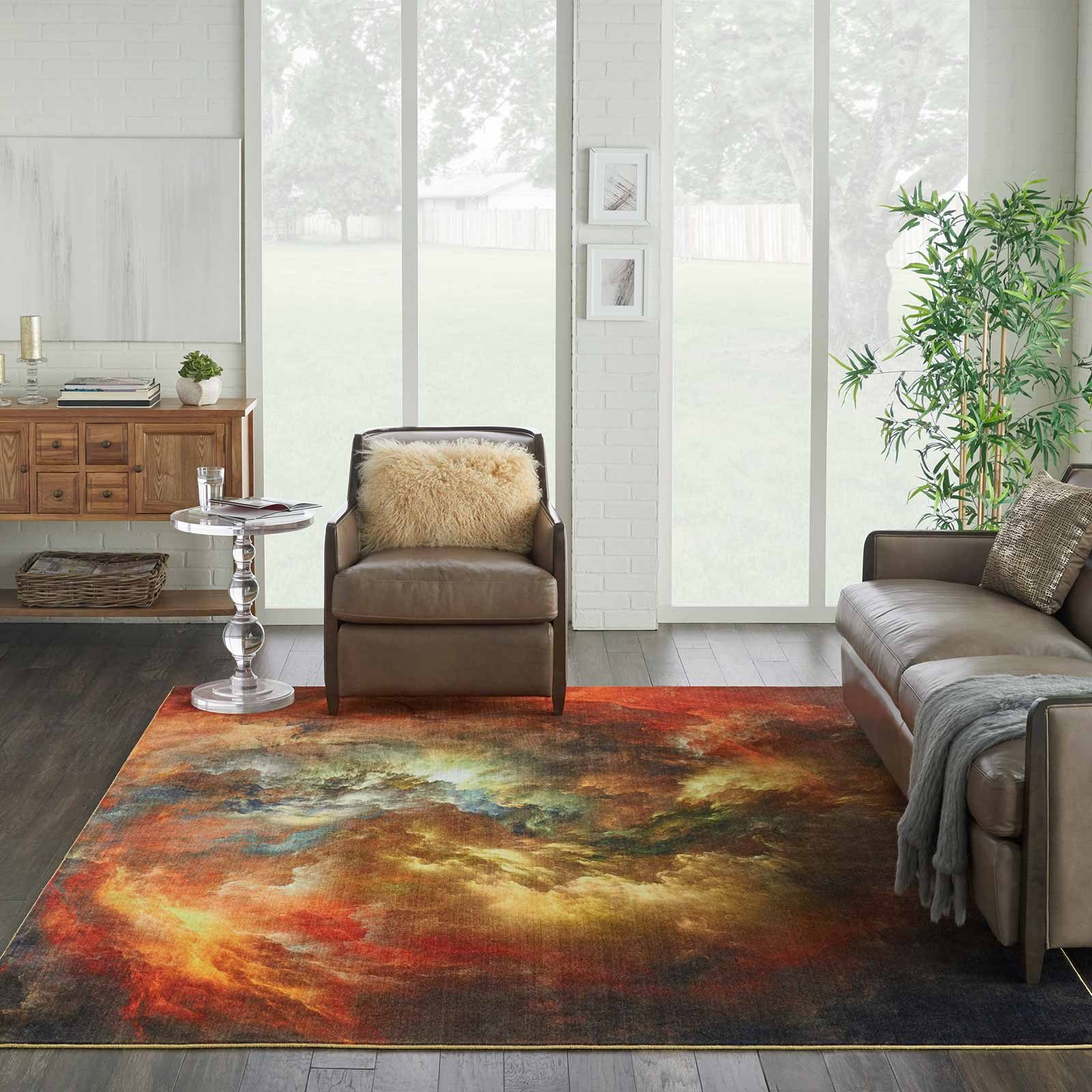 Nourison rug LREVE LER07 REDMT RED MULTICOLOR 9x12 099446494832 interior 1 C
