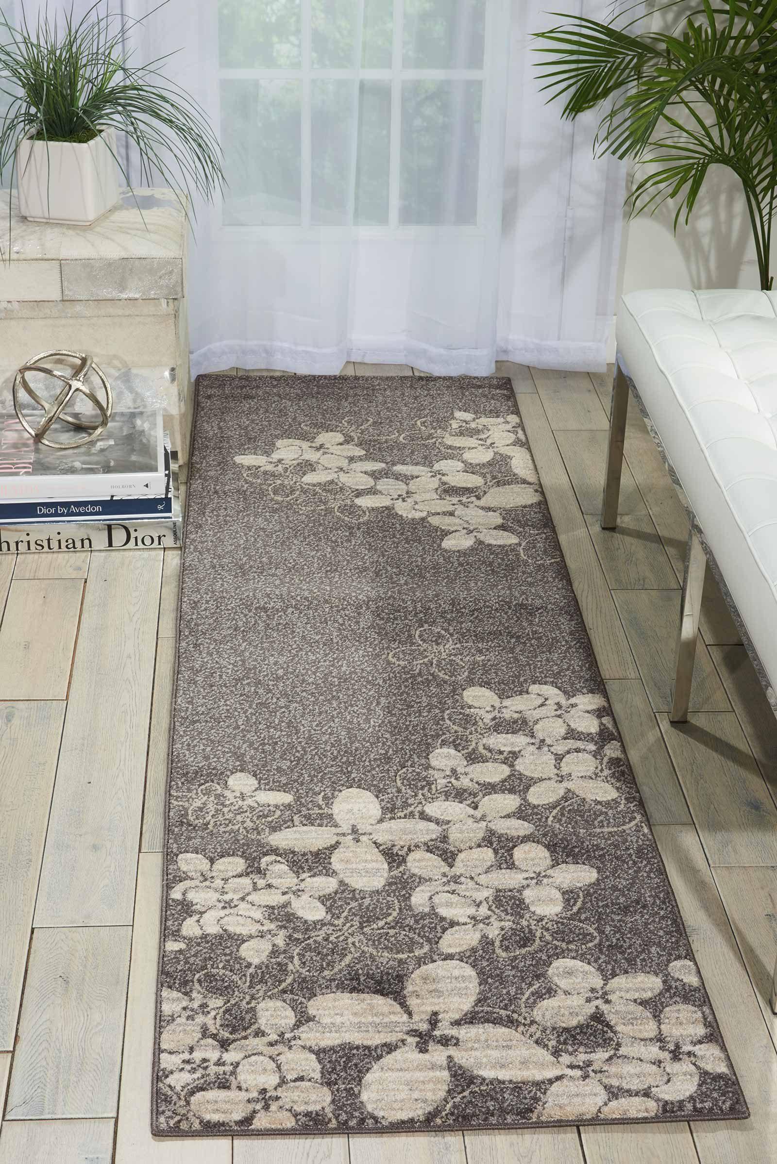 Nourison rug Maxell MAE02 CHARC 3x8 099446334961 interior