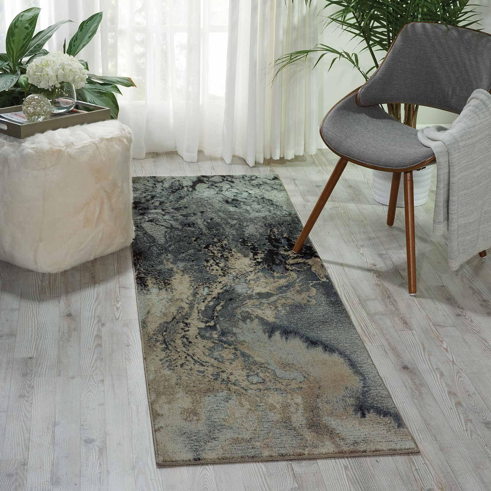 Nourison rug Maxell MAE08 GREY 3X8 099446343550 interior