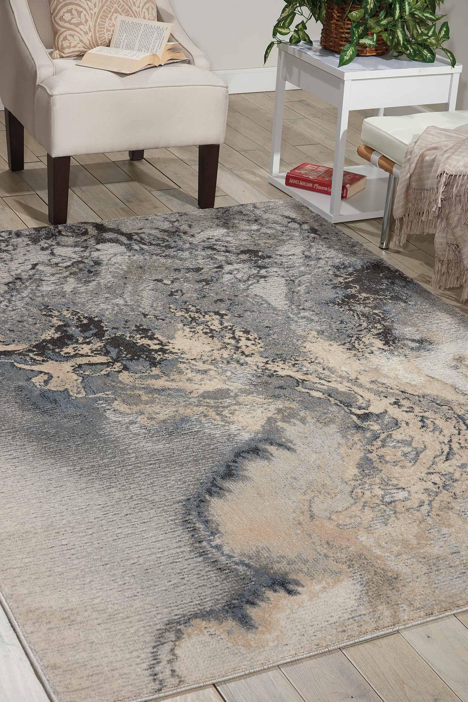 Nourison rug Maxell MAE08 GREY 6x8 099446343536 interior