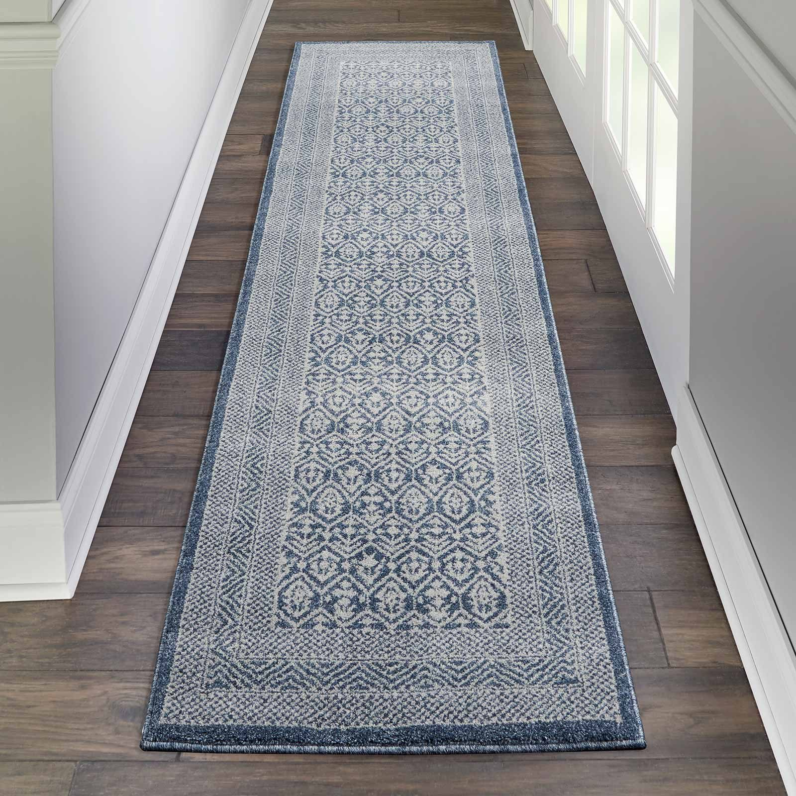 Nourison rug Palermo PMR01 BLUE GREY 2x8 099446719584 interior 1