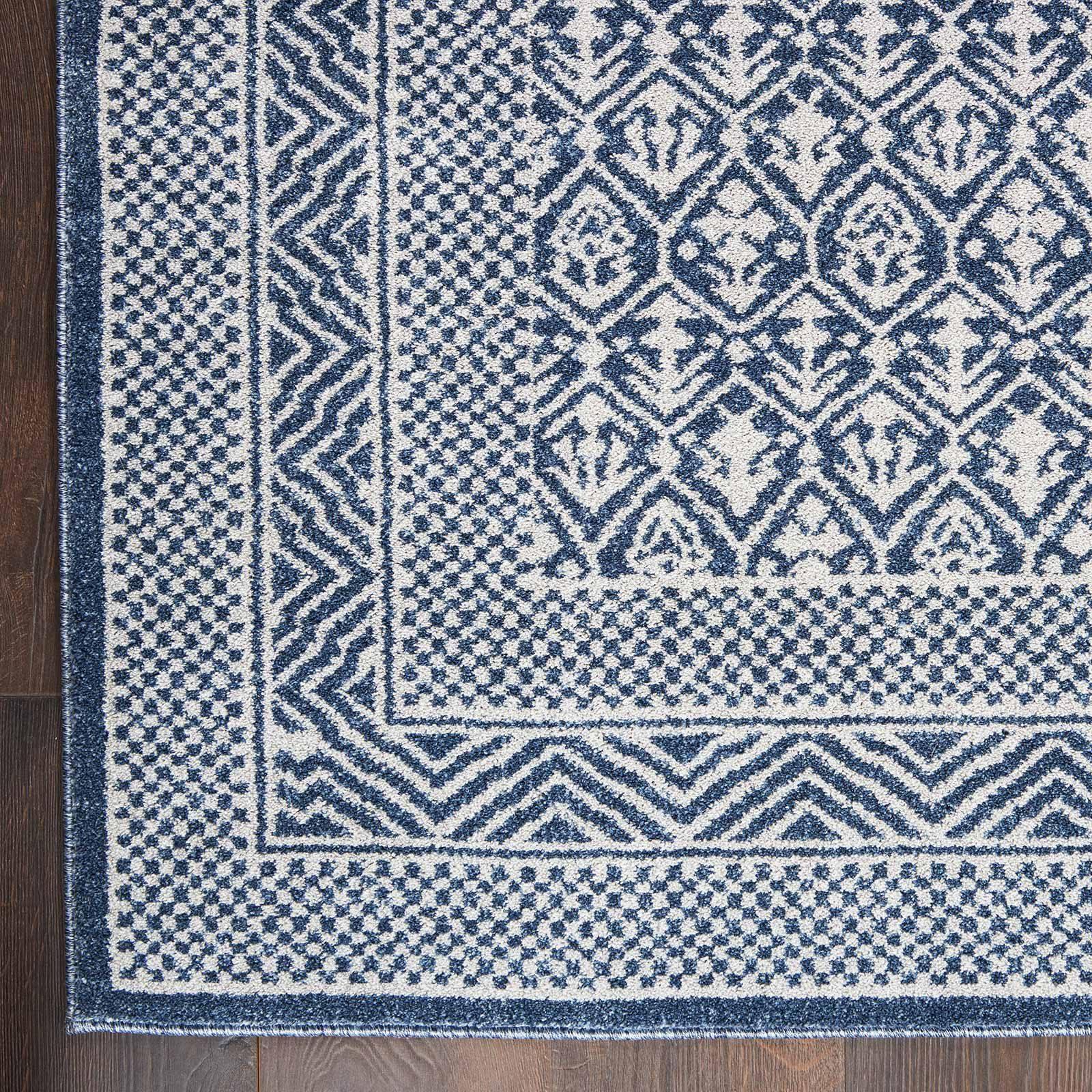 Nourison rug Palermo PMR01 BLUE GREY 5x7 099446719669 CR C