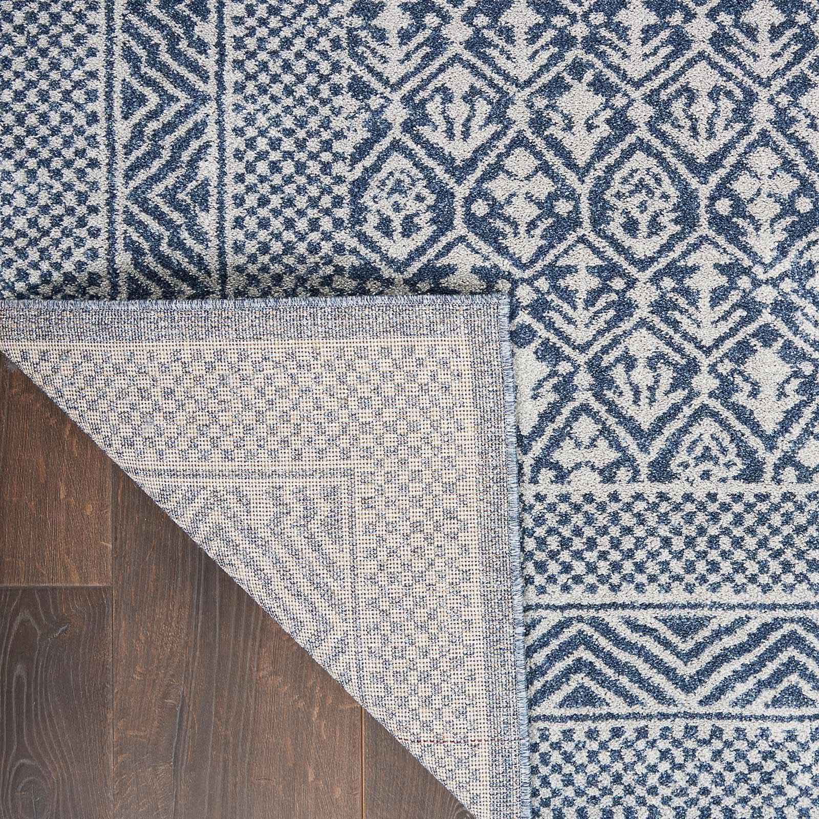 Nourison rug Palermo PMR01 BLUE GREY 5x7 099446719669 CRB C