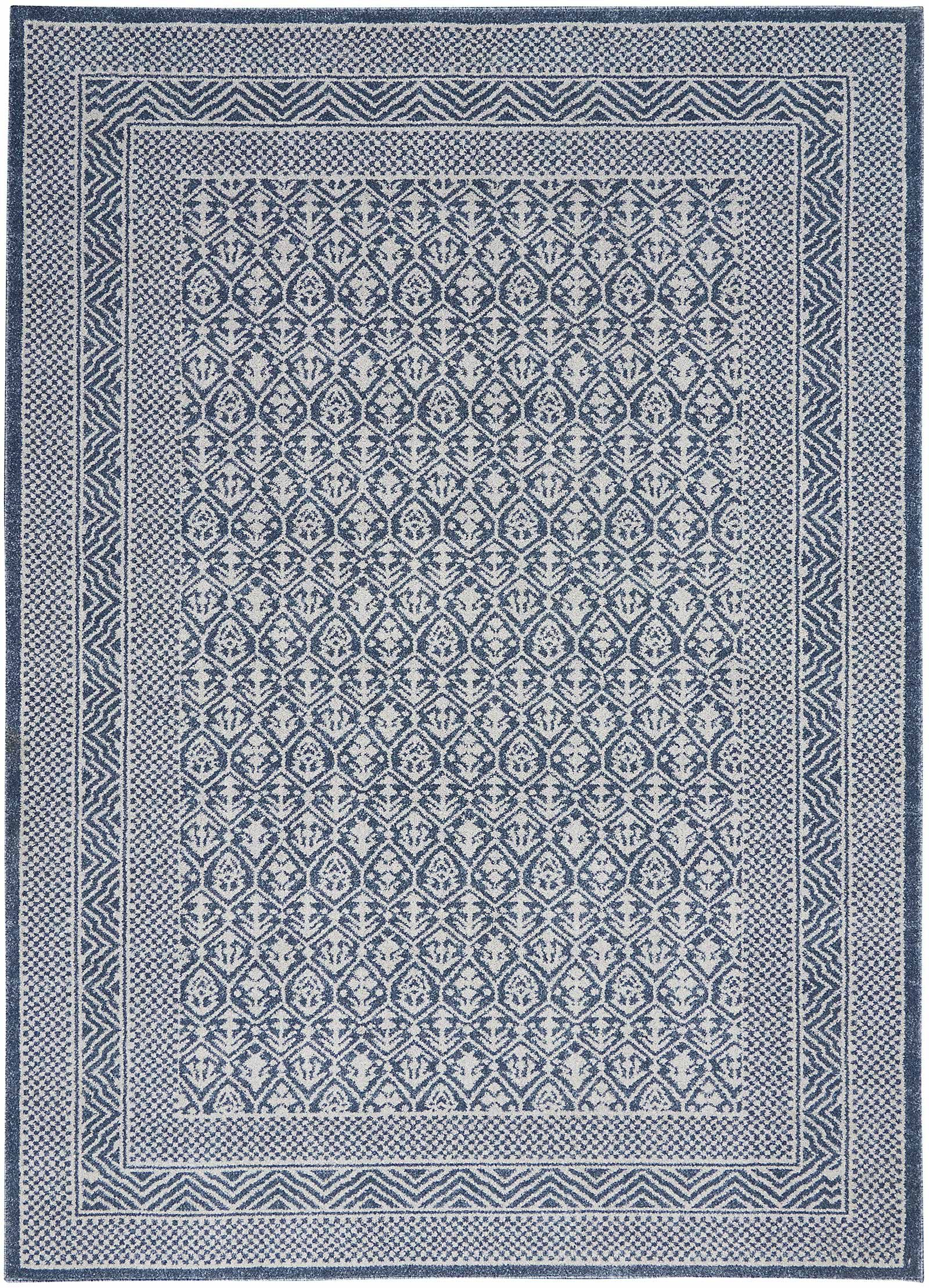 Nourison rug Palermo PMR01 BLUE GREY 5x7 099446719669 flat C