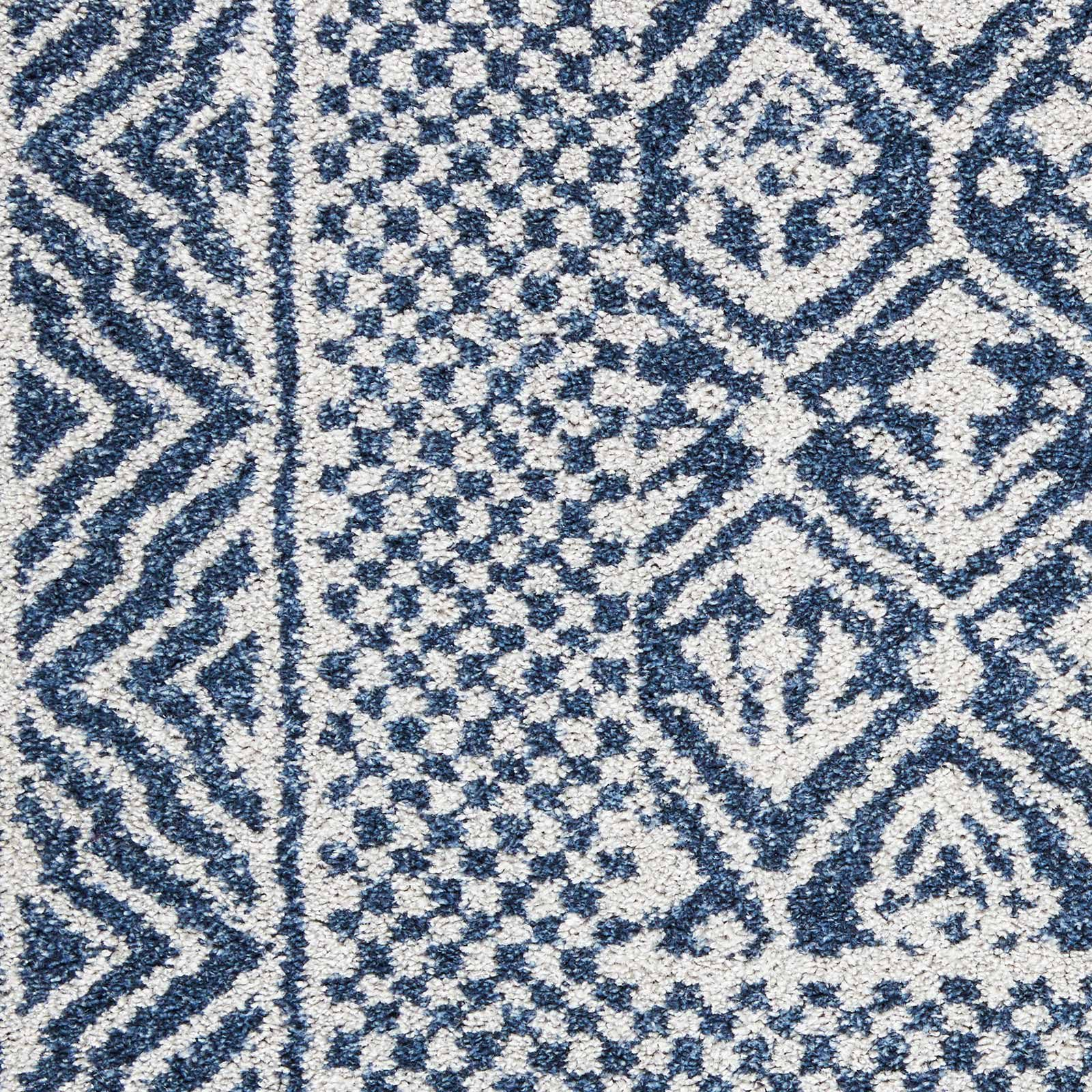 Nourison rug Palermo PMR01 BLUE GREY 5x7 099446719669 swatch C