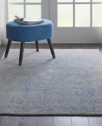 Nourison rug Silk Shadows SHA18 GREY BLUE 4X6 099446451095 interior 1 C