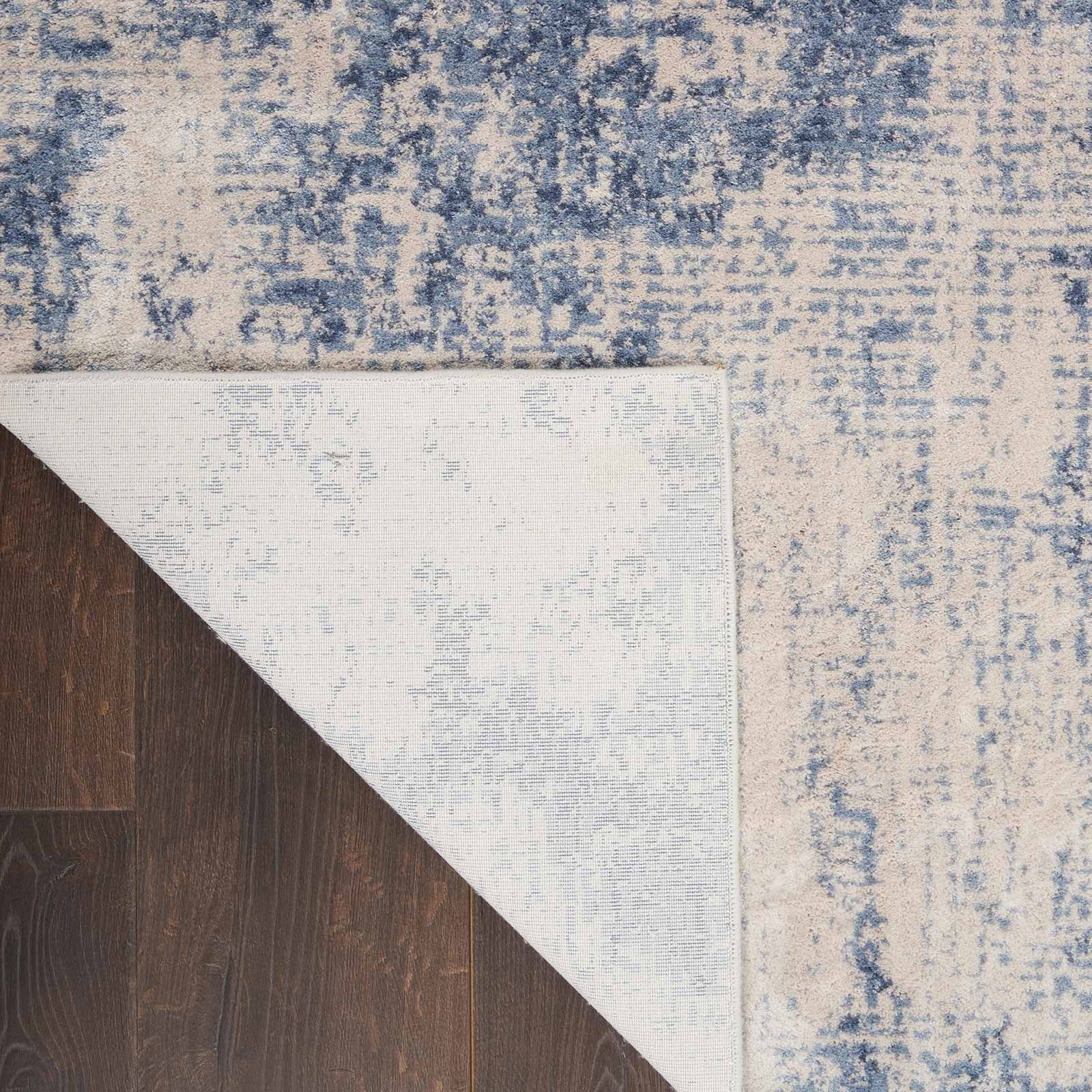 Nourison rug Silky Textures SLY01 IVORY BLUE 4x6 099446709677 CRB C