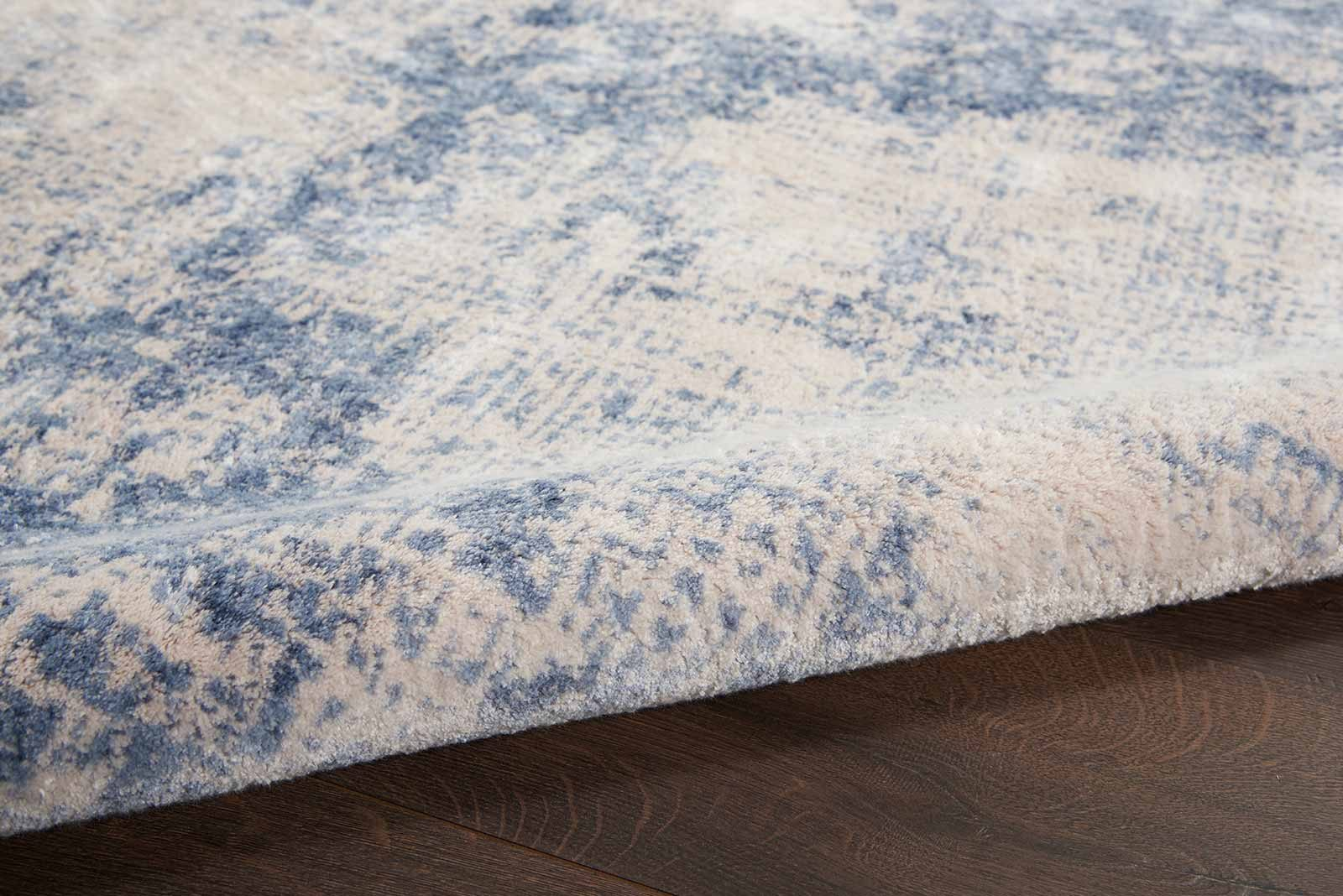 Nourison rug Silky Textures SLY01 IVORY BLUE 4x6 099446709677 TX01 C