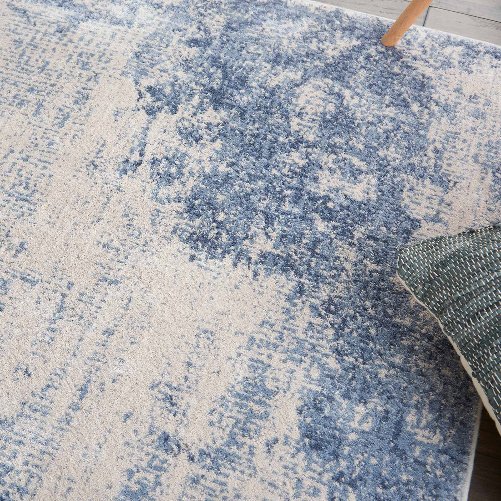 Nourison rug Silky Textures SLY01 IVORY BLUE 4x6 099446709677 interior 2 C