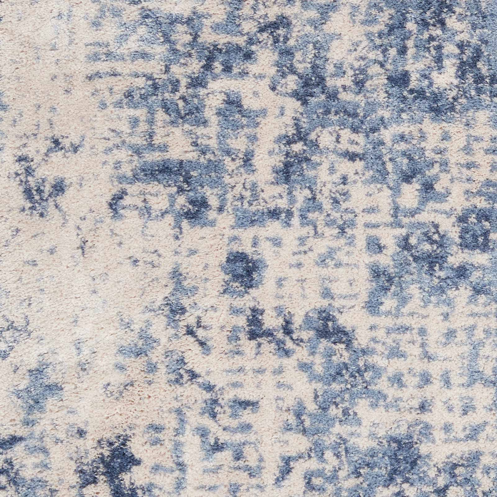 Nourison rug Silky Textures SLY01 IVORY BLUE 4x6 099446709677 swatch C