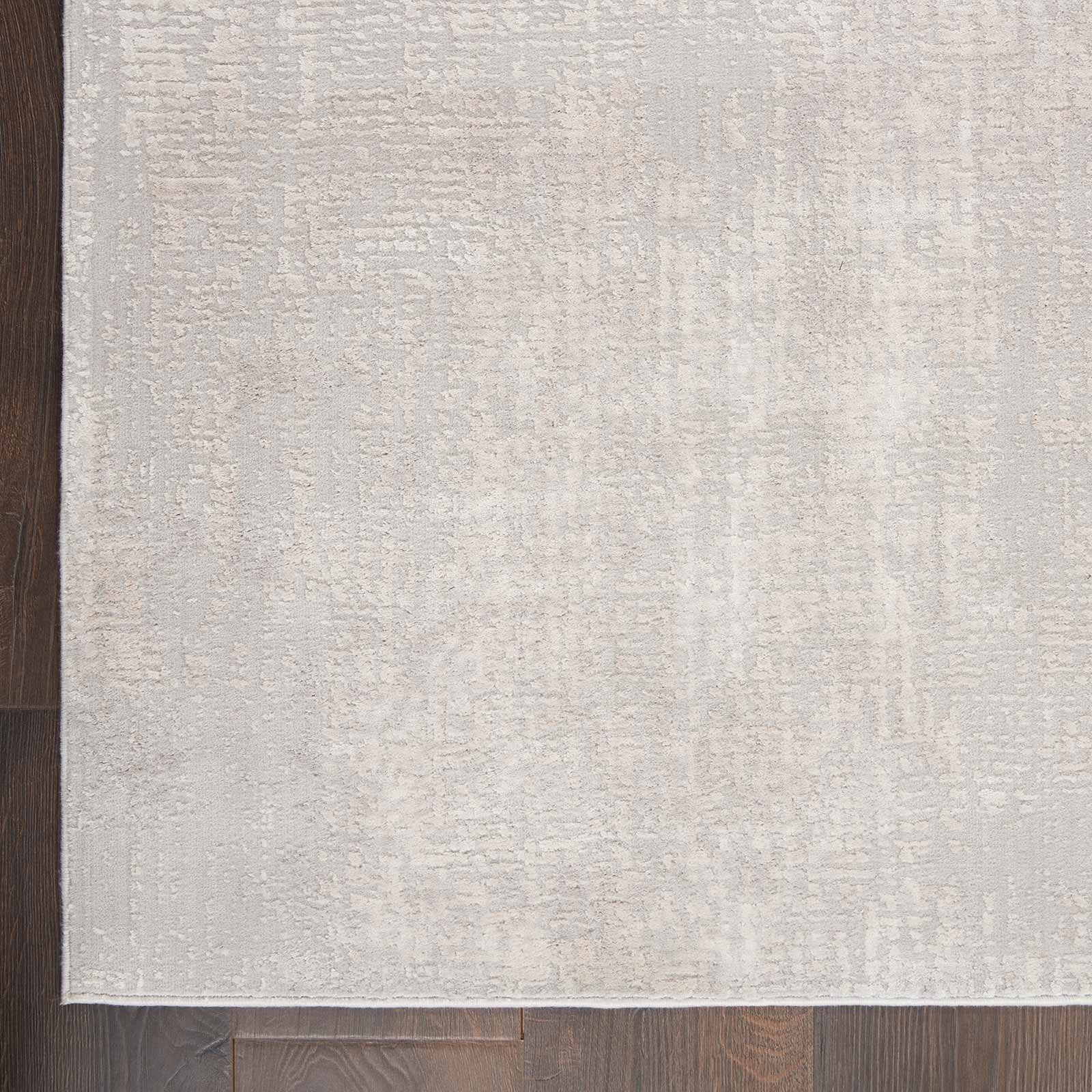 Nourison rug Silky Textures SLY01 IVORY GREY 5x7 099446709837 CR C