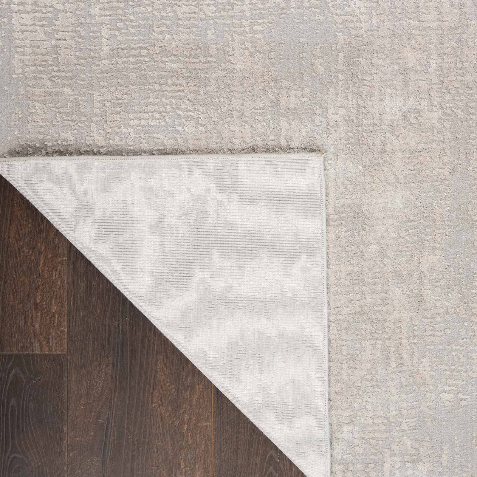 Nourison rug Silky Textures SLY01 IVORY GREY 5x7 099446709837 CRB C
