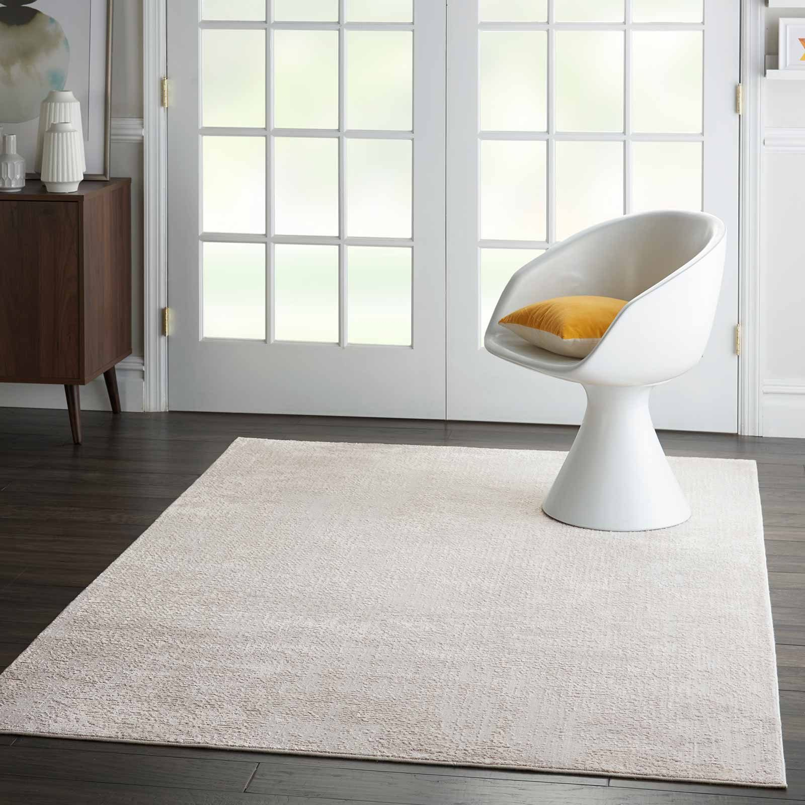 Nourison rug Silky Textures SLY01 IVORY GREY 5x7 099446709837 interior 3 C