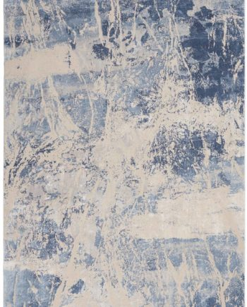 Nourison rug Silky Textures SLY02 BLUE CREAM 5x7 099446709905 flat C