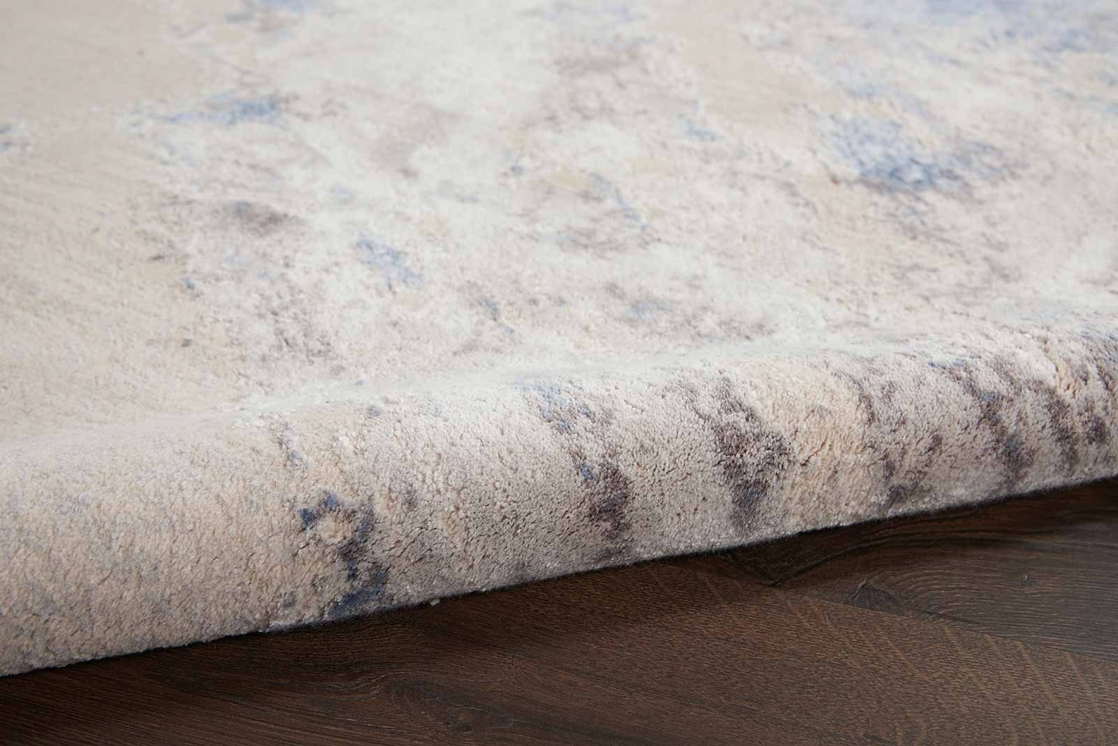 Nourison rug Silky Textures SLY03 BLUE IVORY GREY 5x7 099446710086 TX01 C