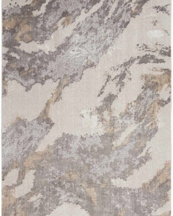 Nourison rug Silky Textures SLY03 BROWN IVORY 5x7 099446709998 flat C