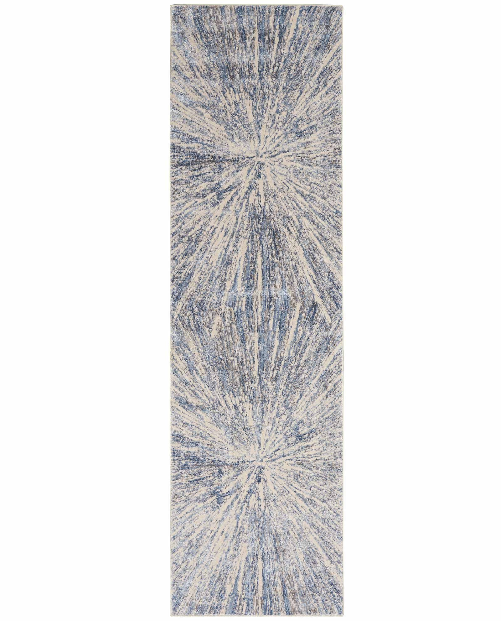 Nourison rug Silky Textures SLY05 BLUE GREY 2x8 099446710208 flat