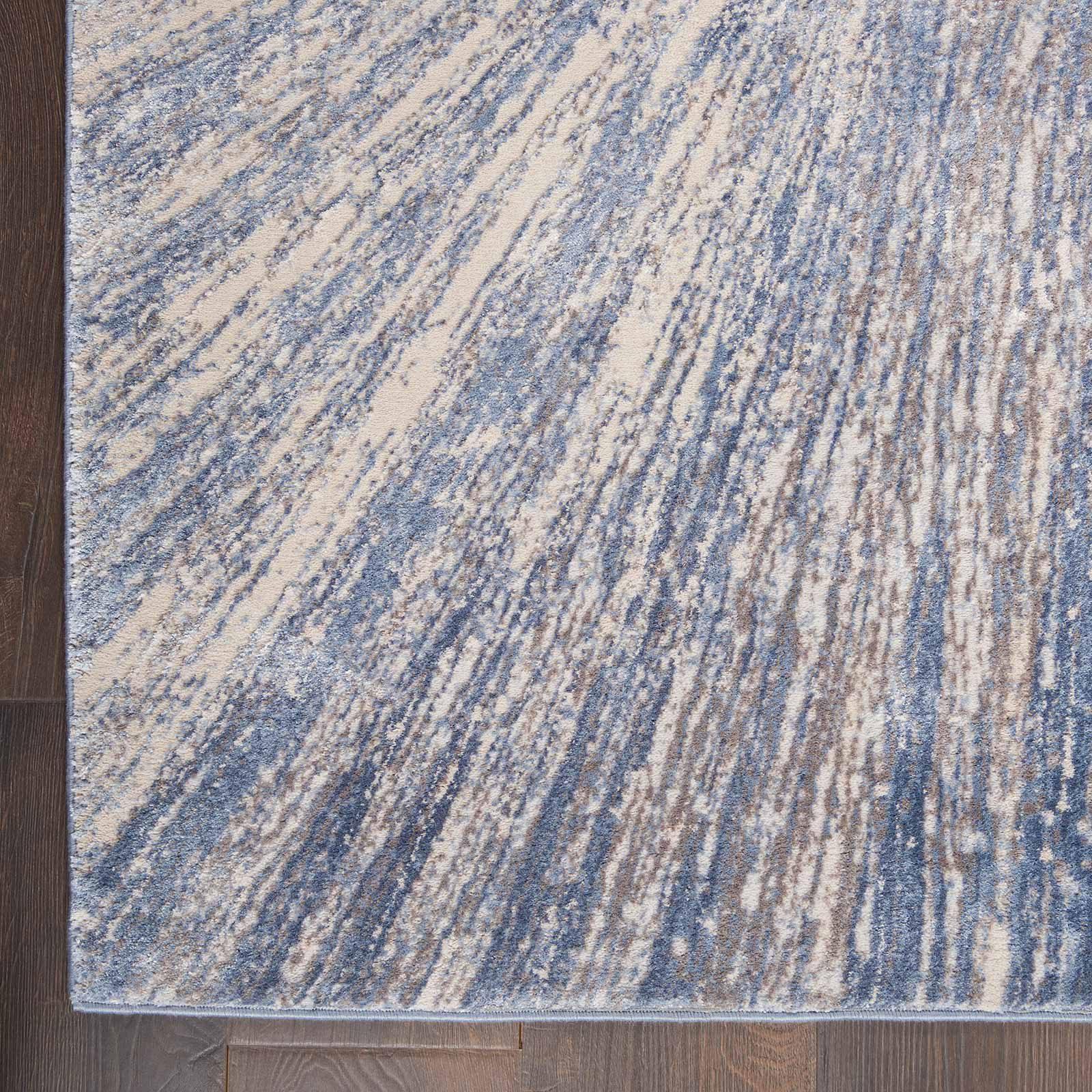 Nourison rug Silky Textures SLY05 BLUE GREY 5x7 099446710222 CR C