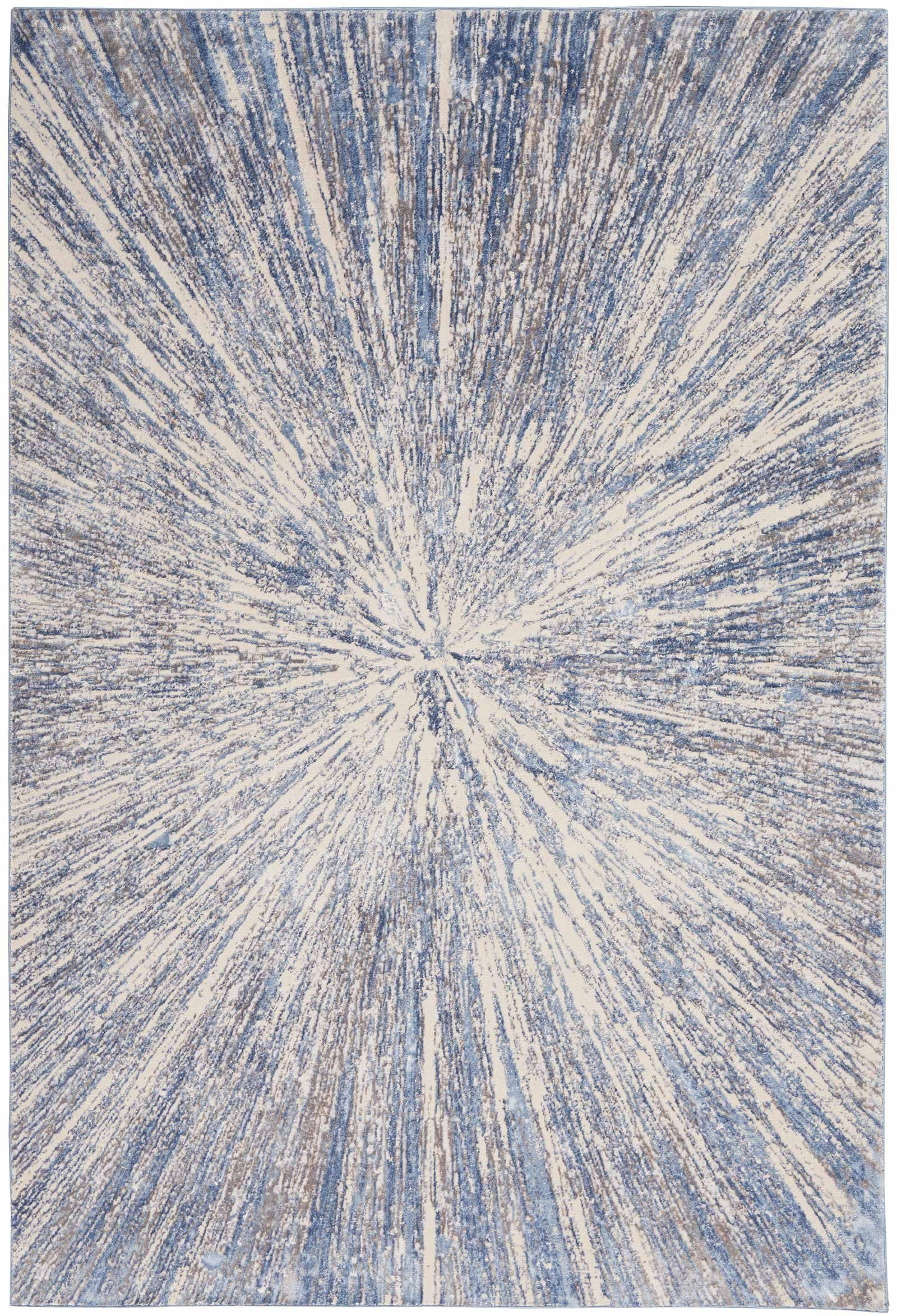 Nourison rug Silky Textures SLY05 BLUE GREY 5x7 099446710222 flat C