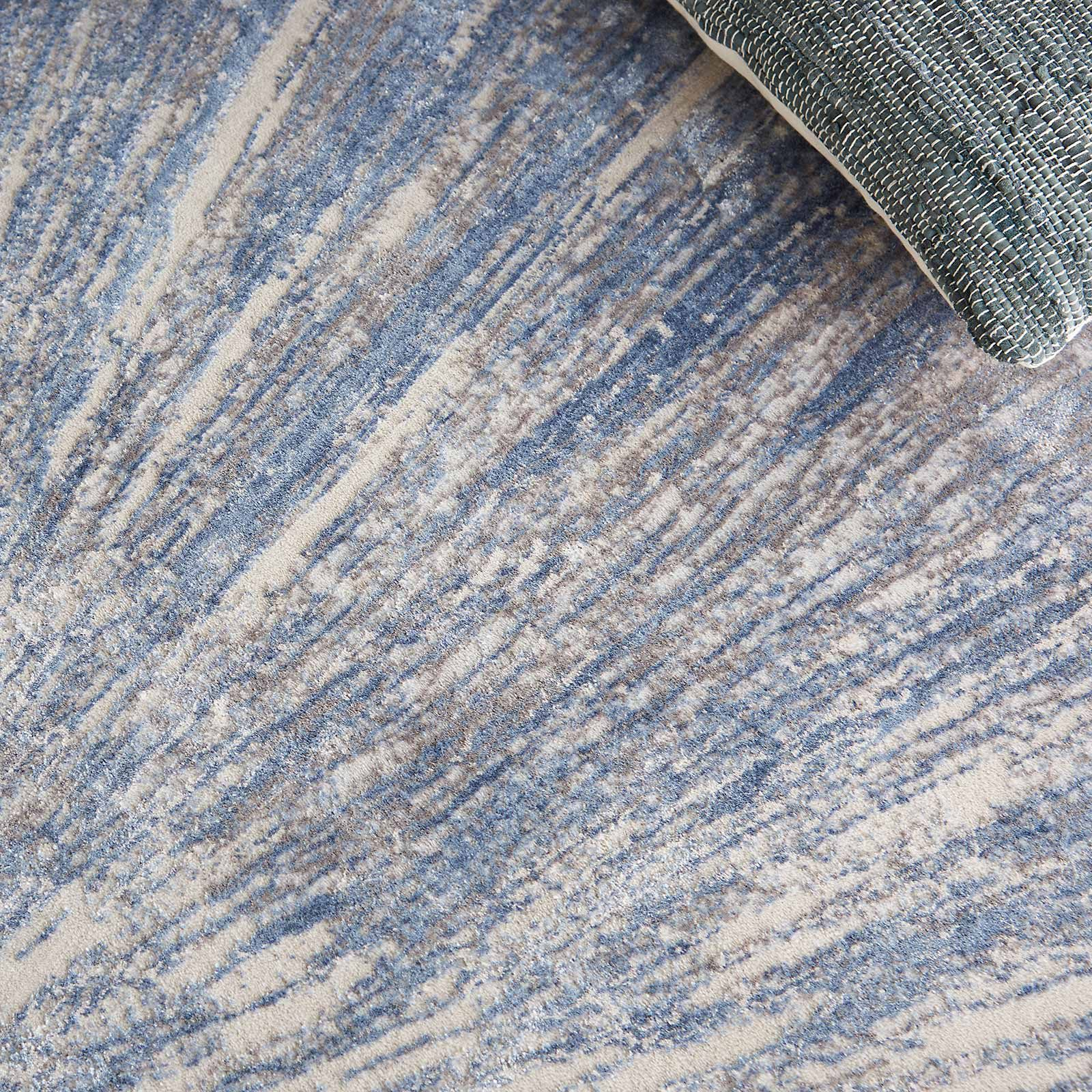 Nourison rug Silky Textures SLY05 BLUE GREY 5x7 099446710222 interior 2 C