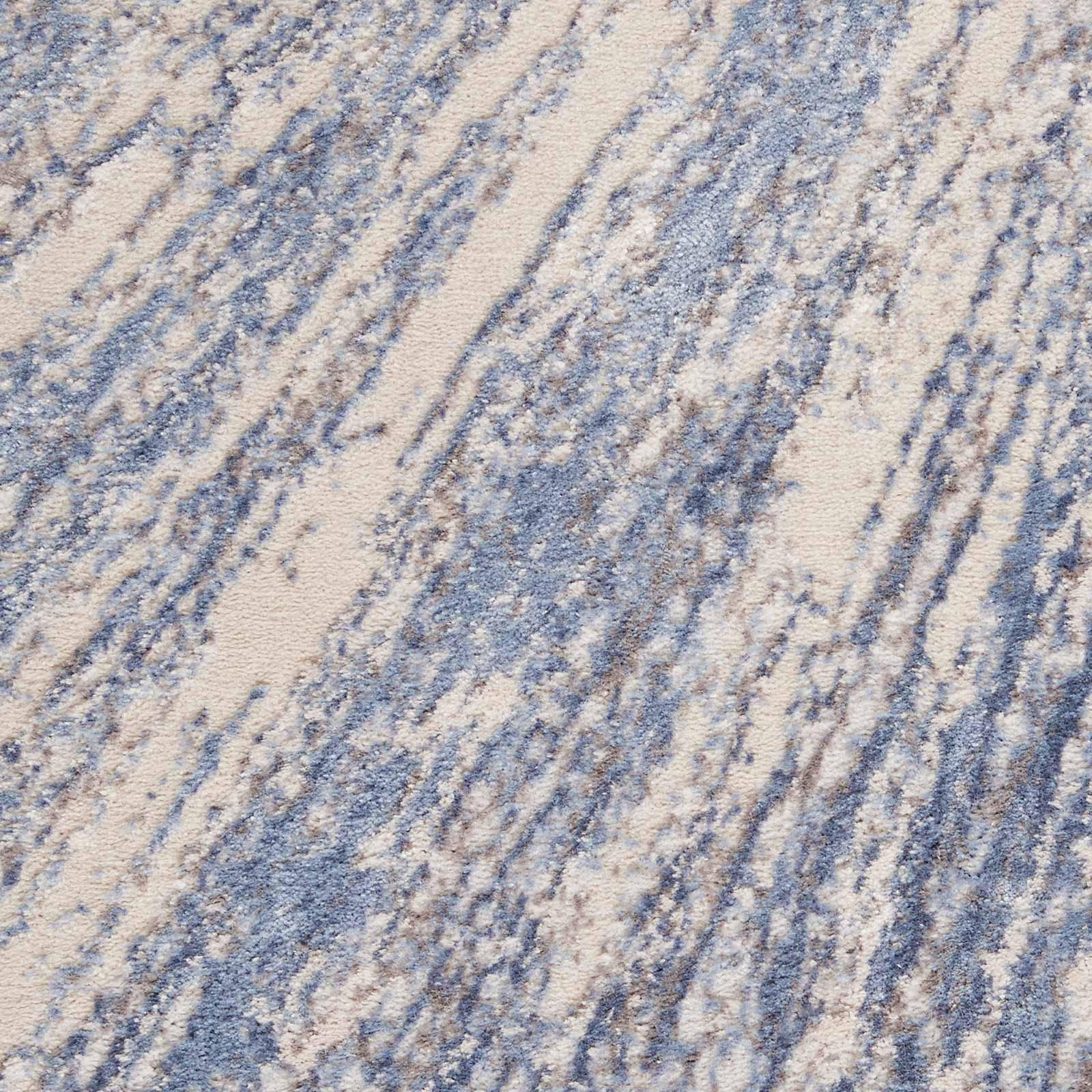 Nourison rug Silky Textures SLY05 BLUE GREY 5x7 099446710222 swatch C