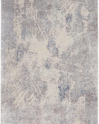 Nourison rug Silky Textures SLY06 IVORY GREY 5x7 099446710307 flat C