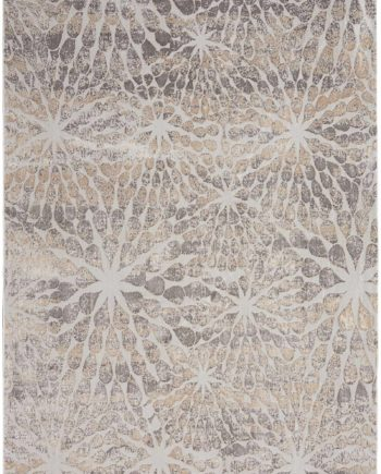 Nourison rug Silky Textures SLY07 IVORY BEIGE 5x7 099446710406 flat C