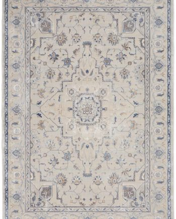 Nourison rug Silky Textures SLY08 IVORY GREY 5x7 099446710499 flat C