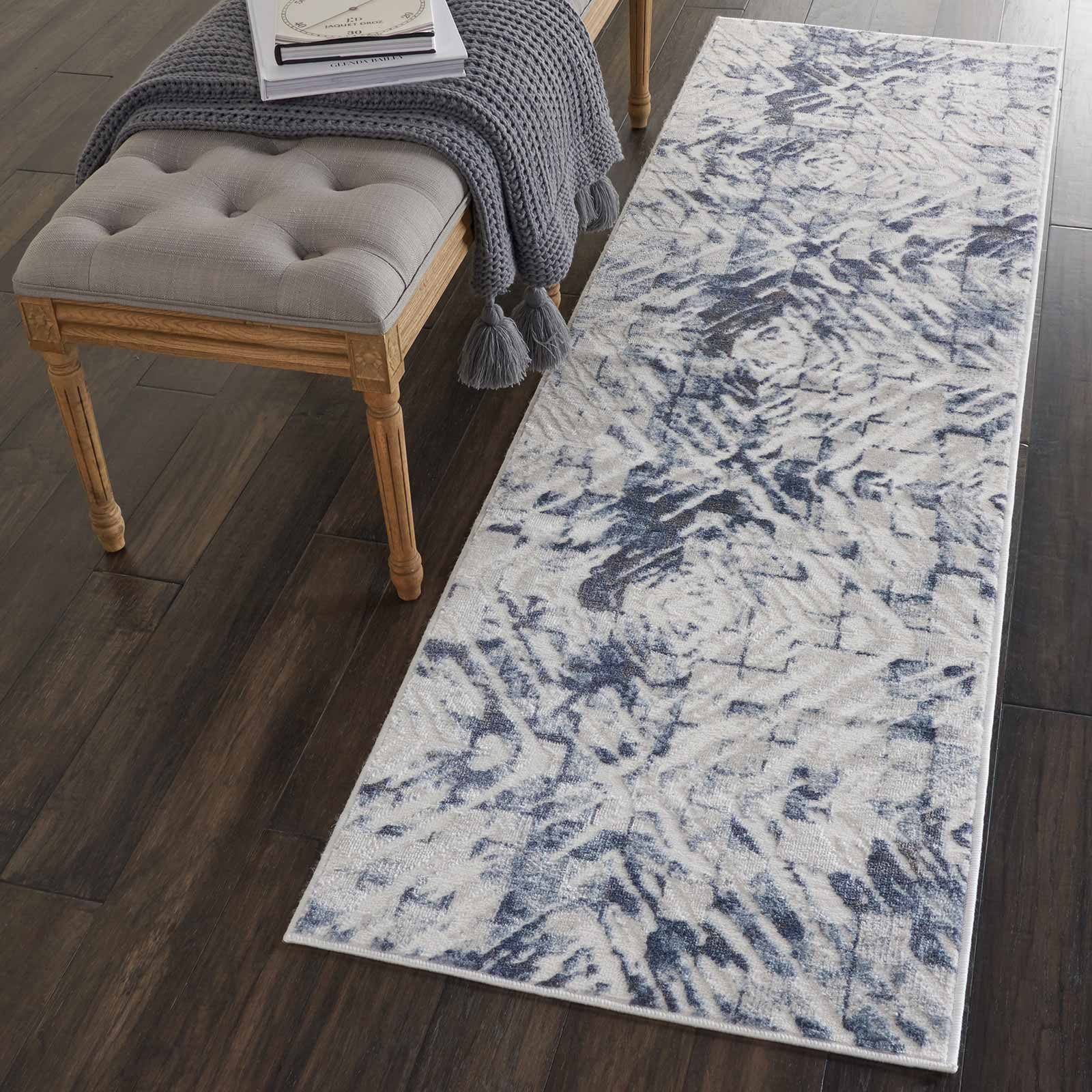 Nourison rug Urban Decor URD02 IVORY BLUE 2X8 099446466945 interior 1 C