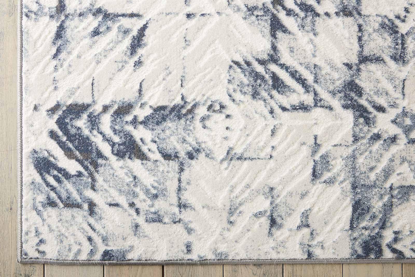 Nourison rug Urban Decor URD02 IVORY BLUE 5x7 099446466976 CR01