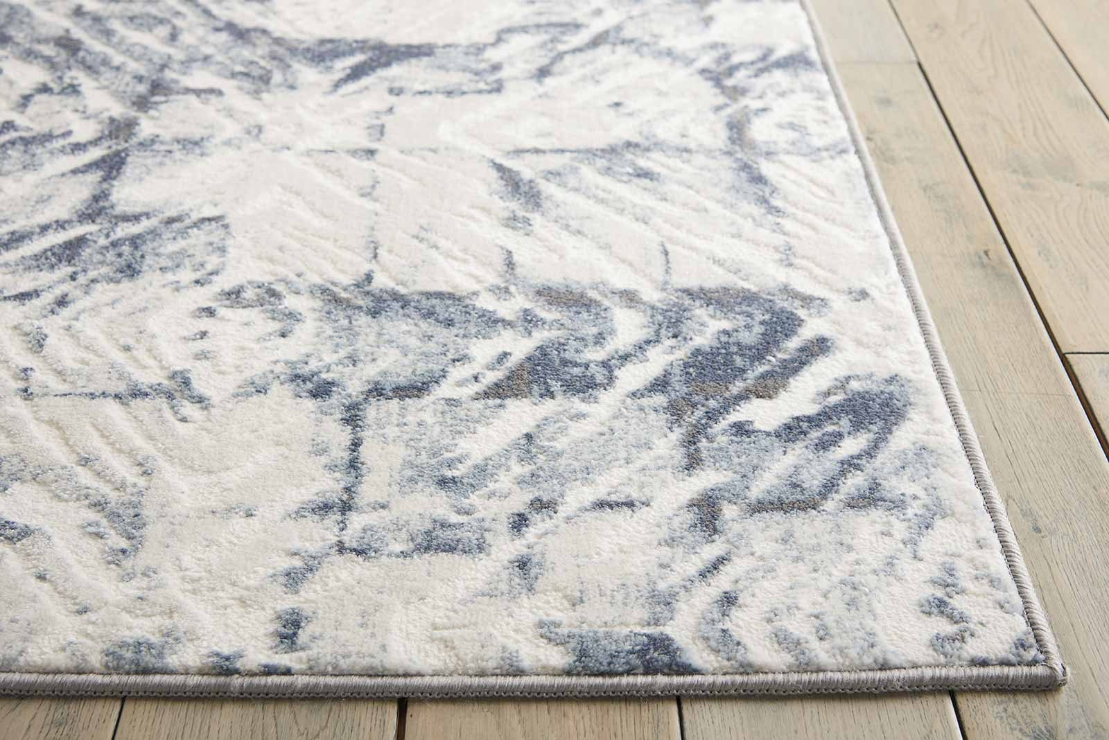 Nourison rug Urban Decor URD02 IVORY BLUE 5x7 099446466976 DT01