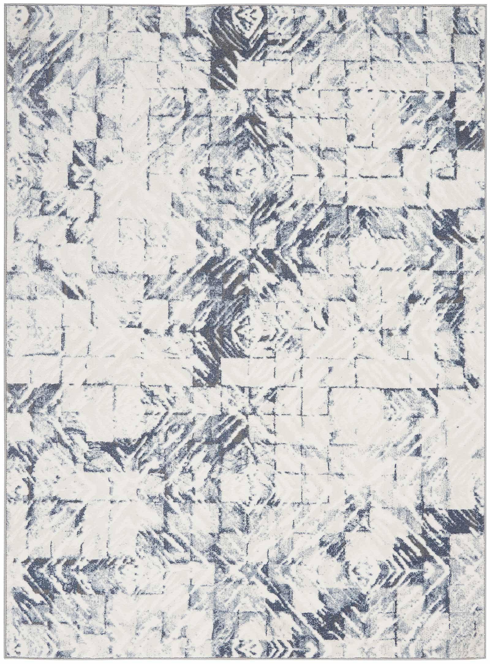 Nourison rug Urban Decor URD02 IVORY BLUE 5x7 099446466976 main