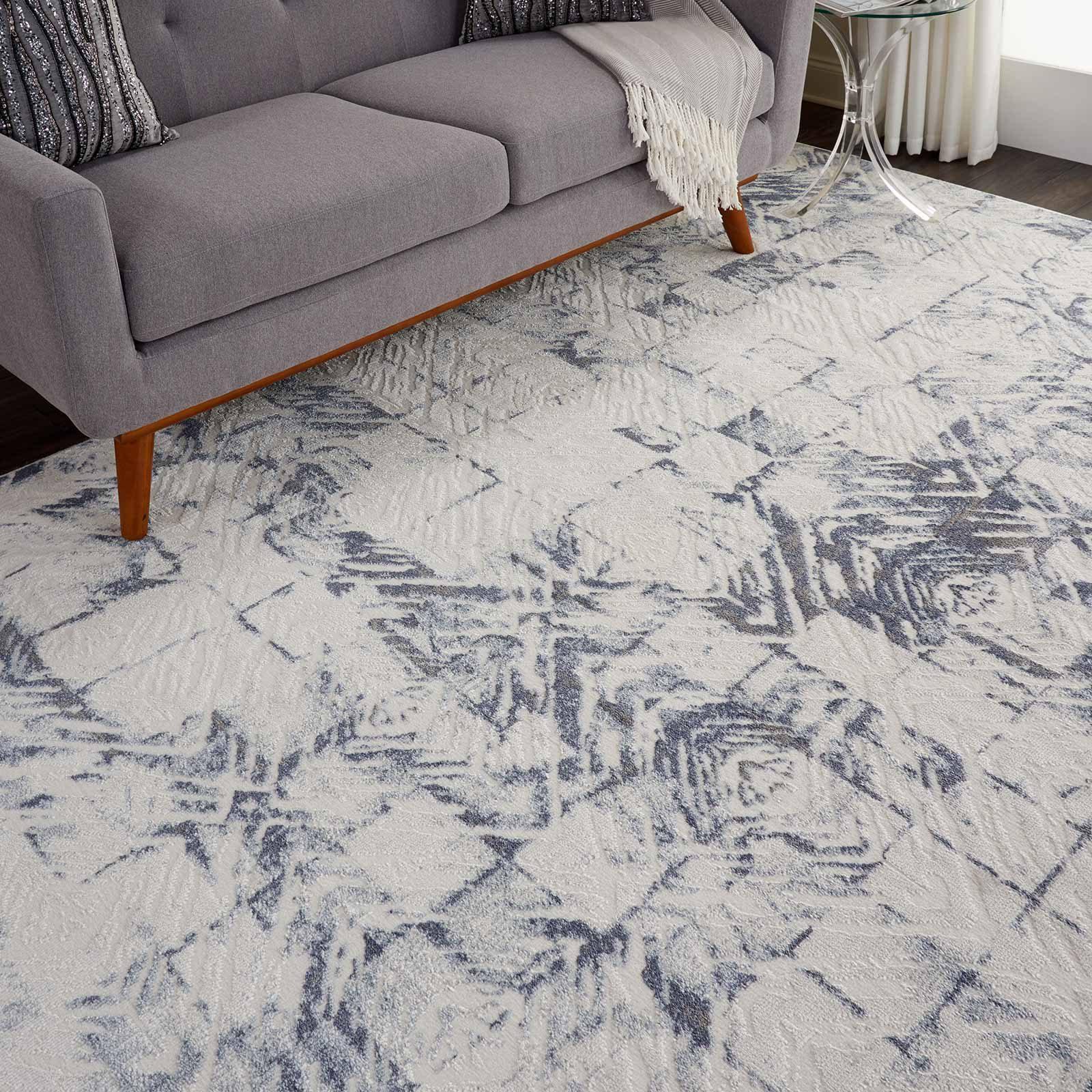 Nourison rug Urban Decor URD02 IVORY BLUE 8X10 099446466983 interior 2 C