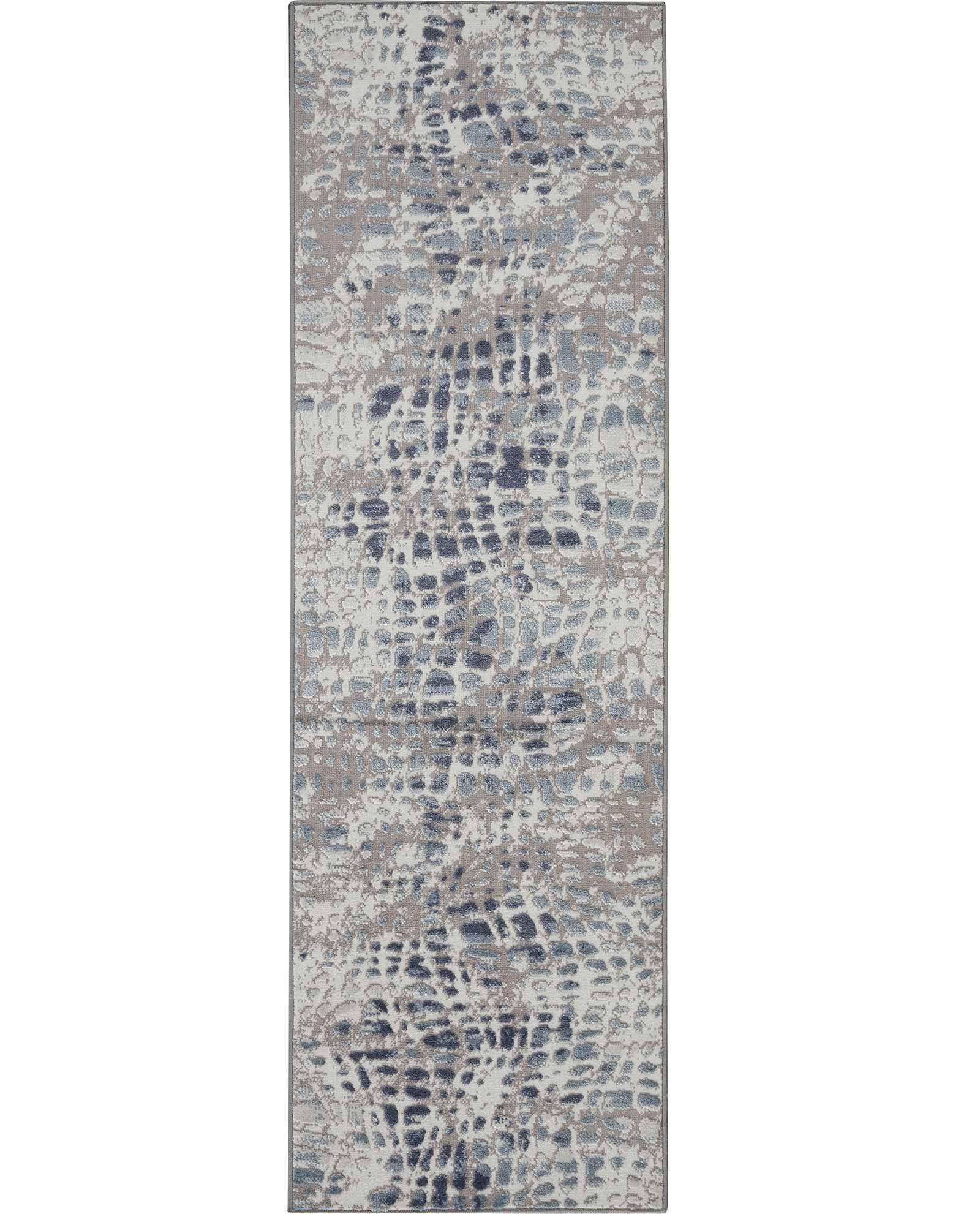 Nourison rug Urban Decor URD04 IVGRY 2X8 099446467096 flat C