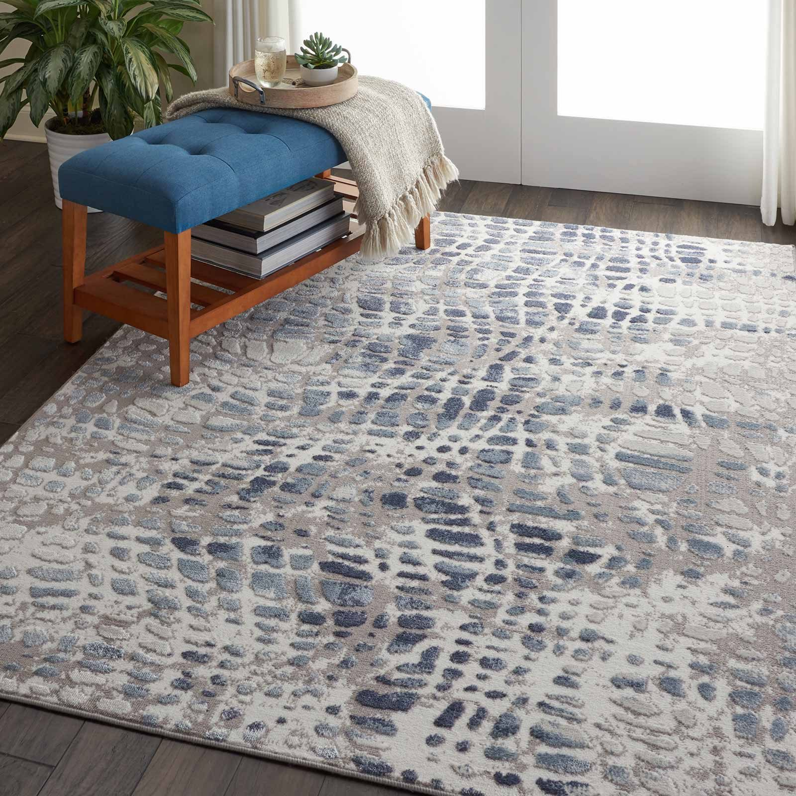 Nourison rug Urban Decor URD04 IVGRY 4x6 099446467102 interior 3 C