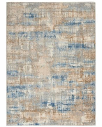 Calvin Klein rug CK950 CK951 BLBGE BLUE BEIGE 5X7 099446756633 flat 1 C