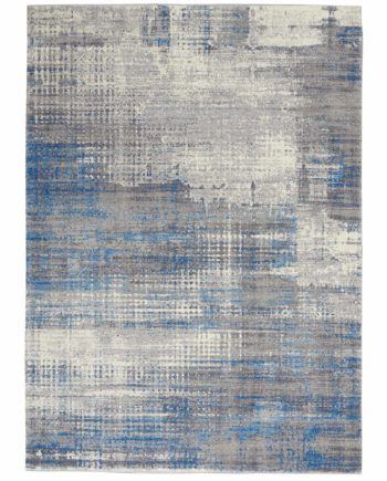 Calvin Klein rug CK980 CK980 IVGBL IVORY GREY BLUE 5x7 099446759221 flat 1 C