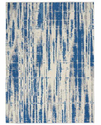 Calvin Klein rug CK980 CK981 IVBLU IVORY BLUE 5x7 099446759238 flat 1 C