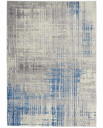 Calvin Klein rug CK980 CK982 IVGBL IVORY GREY BLUE 5x7 099446759245 flat 1 C