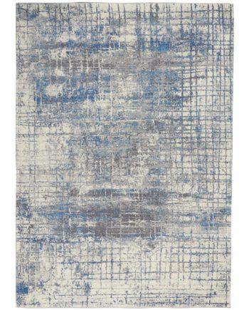 Calvin Klein rug CK980 CK983 IVGBL IVORY GREY BLUE 5x7 099446759252 flat 1 C