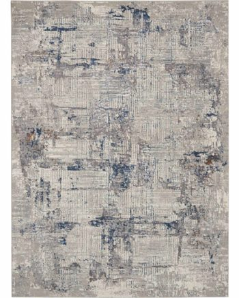 Kathy Ireland rug KI40 KI41 IVBLU IVORY BLUE 5x7 099446735874 flat 1 C