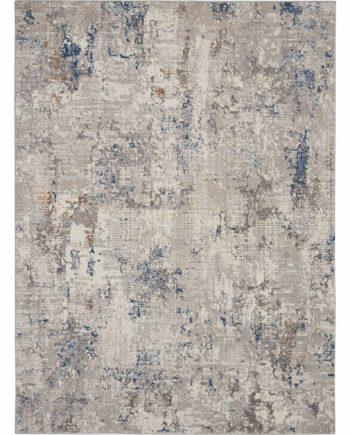 Kathy Ireland rug KI40 KI42 WHTBL WHITE BLUE 5x7 099446735966 flat 1 C
