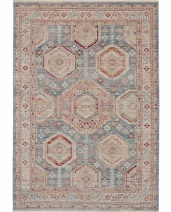 Nourison rug HOMESTEAD HMS01 LTBMC LIGHT BLUE MULTICOLOR 5x8 099446767264 flat 1 C