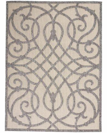Nourison rug COZUMEL CZM04 CRMGRY CREAM GREY 5X7 099446768599