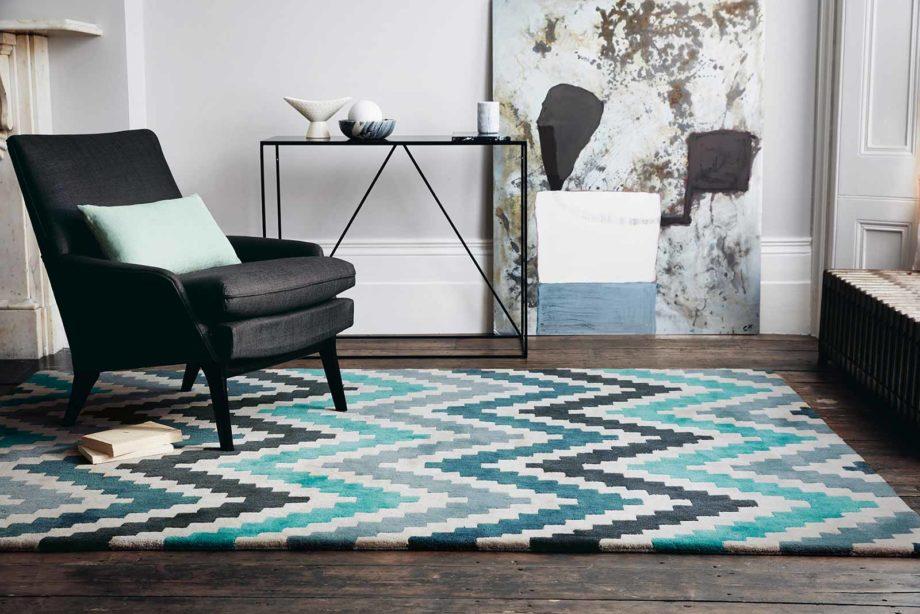 Louis De Poortere rugs Romo LX 2003 Scala Teal interior